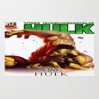 hulk Area & Throw Rugs featuring Hulk by Don Kuing