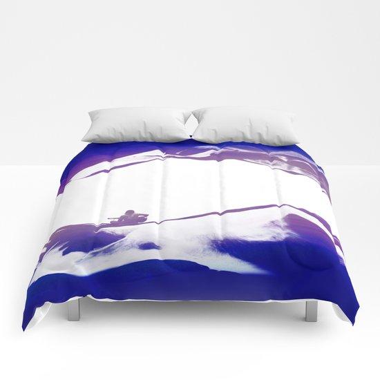 Purple Song of isolation Comforters