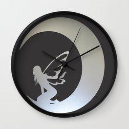 A Fairy on Moon Wall Clock