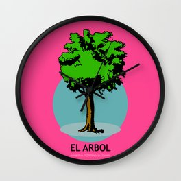 El Arbol Mexican Loteria Card Wall Clock