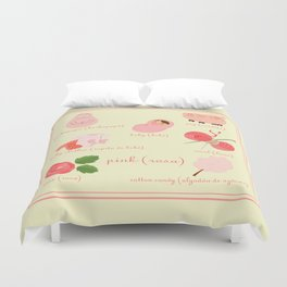 Colors: pink (Los colores: rosa) Duvet Cover