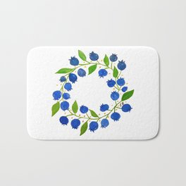 Blueberry Wreath Bath Mat