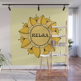 Relax Nouveau Golden Sun Mandala Wall Mural