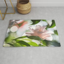 Give Light Pink Blush Camellia Blossom Nature Version Rug