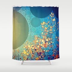 Sky and Leaves Shower Curtain