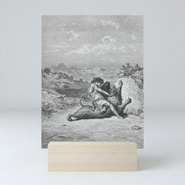 Gustave Doré - La Grande Bible de Tours (1866) 060 Samson Slaying a Lion (Judges 14:5-6) Mini Art Print