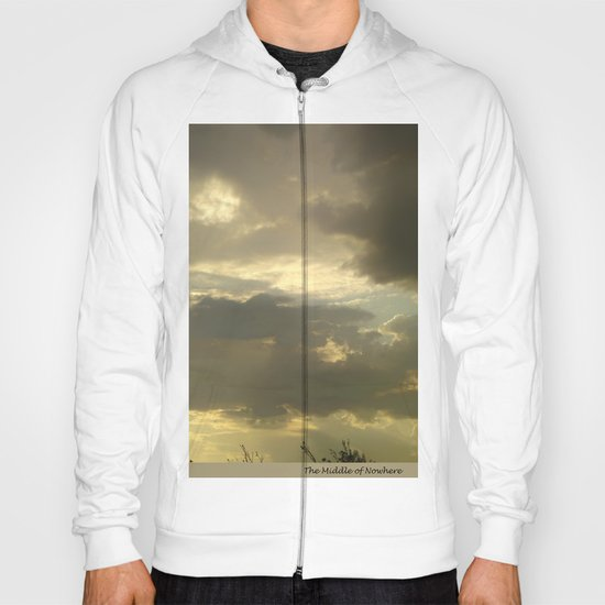 Grey tan stormy clouds in the middle of nowhere Hoody