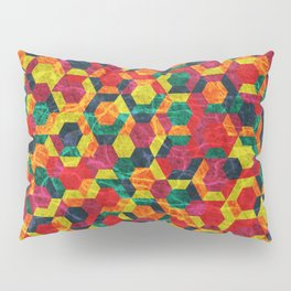 Colorful Half Hexagons Pattern #08 Pillow Sham