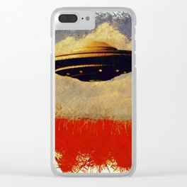 The Flying Saucer Clear iPhone Case