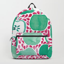 Watercolour Apples | Original Red and Green Palette Backpack