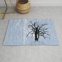 Gnarled Tree and Lightning Rug