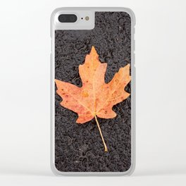 Maple Leaf Photography Print Clear iPhone Case