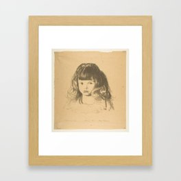 Anne 1921, First State by George Bellows (1882–1925) Framed Art Print