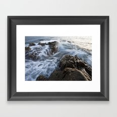 Stones at the beach Framed Art Print