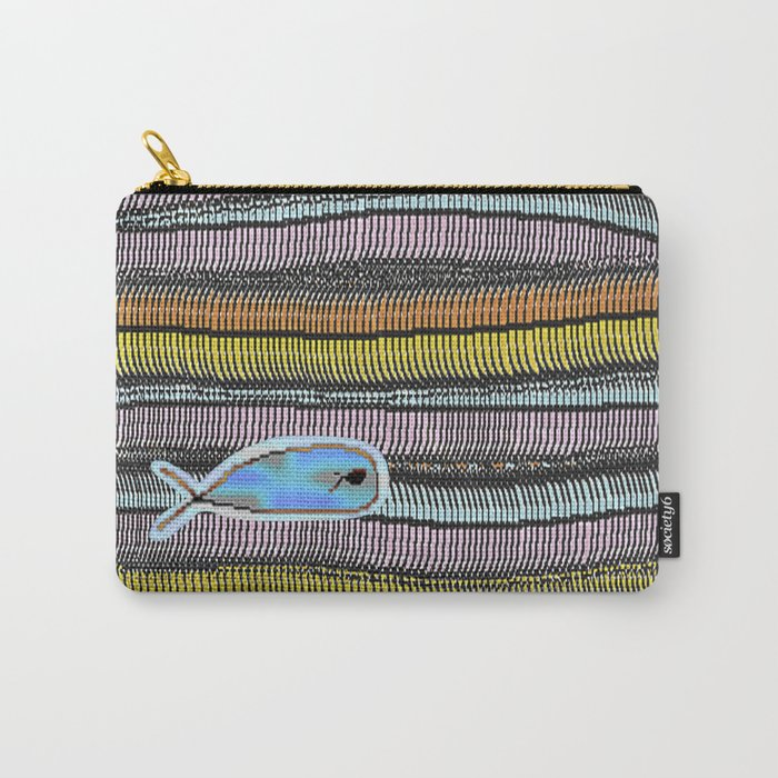 Not Whaling / Imperfect Lines Carry-All Pouch