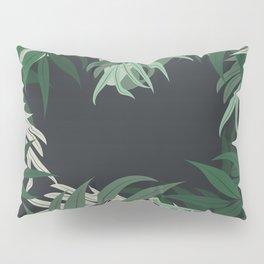 Get Naked, Jungle, Palm, Green Pillow Sham
