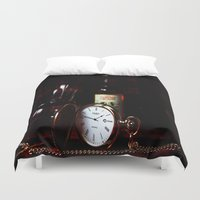 whisky Duvet Covers featuring Time by Doug McRae
