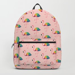 Rainbow Flamingo Backpack