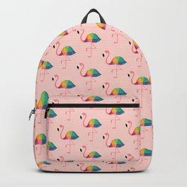 Rainbow Flamingo Backpack