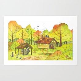 Baba Yaga's House Art Print