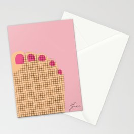 Pink toes  Stationery Cards