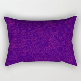 Clockwork PURPLE DREAM / Cogs and clockwork parts lineart pattern Rectangular Pillow