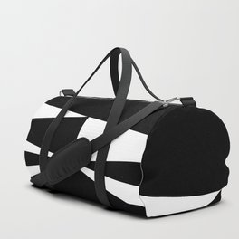 Triangles in Black and White Duffle Bag