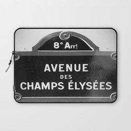 Avenue des Champs Elysees in Paris Laptop Sleeve