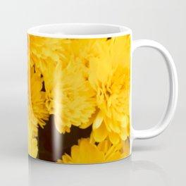 Bright Golden Holiday Mums Coffee Mug
