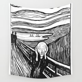 "Edvard Munch ""The Scream"", 1895 Wall Tapestry"
