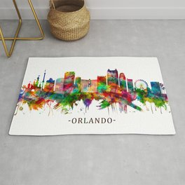 Orlando Florida Skyline Rug