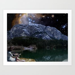 Stargazing by the Chief Art Print