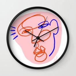 Abstract Face Drawing Wall Clock