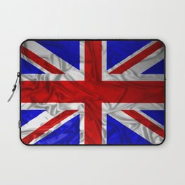 Wrinkled Union Jack Flag Laptop Sleeve