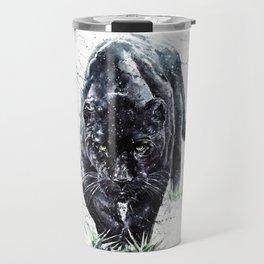 Panther watercolor painting predator animals puma jaguar Travel Mug
