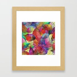 Coloured Leaf Collage Framed Art Print
