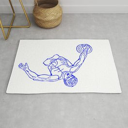 Vaporwave Meme Discus thrower Silhouette Greek Statue Design graphic Rug