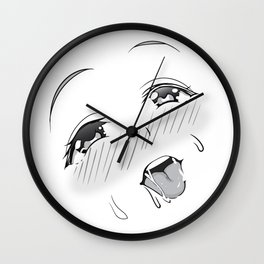Ahegao Wall Clock