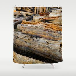 Driven Driftwood Shower Curtain