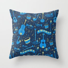 The Spirit of Jazz Pattern Throw Pillow