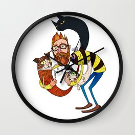 Don't let the kittah cocktail out on a cold day! Wall Clock