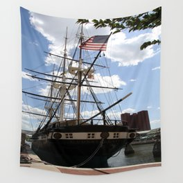 Old Glory - USS Constellation Wall Tapestry