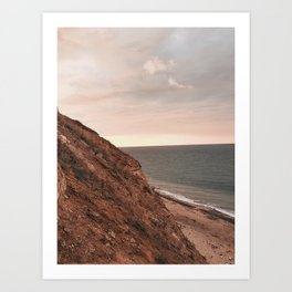 cliff side Art Print