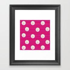 Swirl Dots Framed Art Print