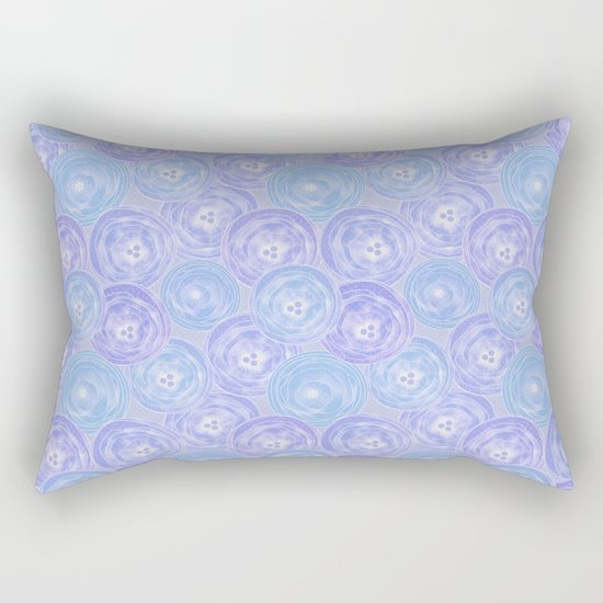 Blue and lilac anemones . Rectangular Pillow