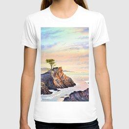 Pebble Beach Lone Cypress Tree T-shirt
