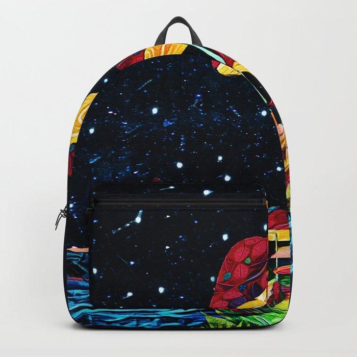 Cosmic mushrooms Backpack