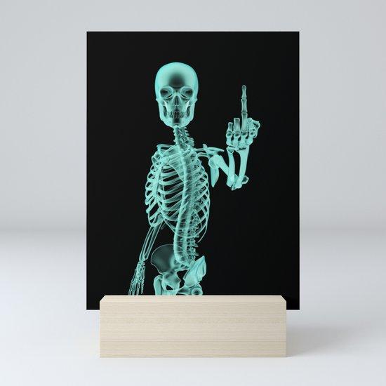 X-ray Bird / X-rayed skeleton demonstrating international hand gesture by grandeduc