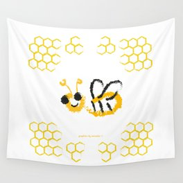 Happy bee Wall Tapestry
