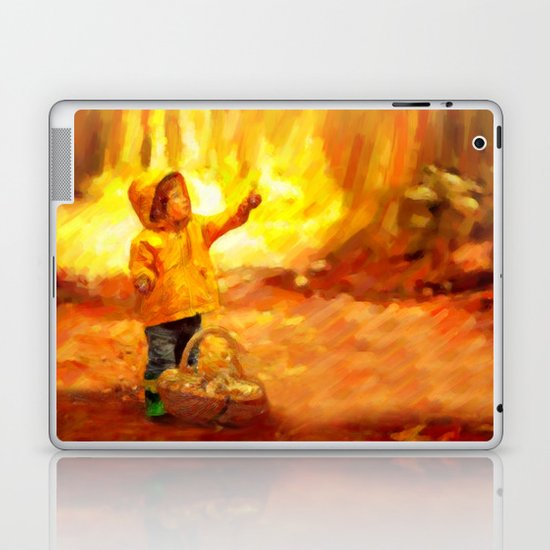 The Little Collector - Painting Style Laptop & iPad Skin